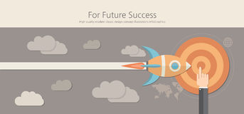 Modern and classic design for future success concept. Royalty Free Stock Photos