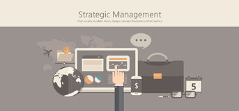 Modern and classic design stategic management concept. Royalty Free Stock Images