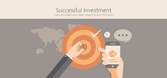 Modern and classic design successful investment concept. Stock Photos