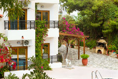 Modern and classic Greek architecture, Village Bali, Crete Stock Photos