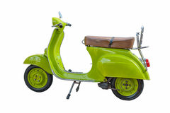 Modern classic scooter isolated on a white background Royalty Free Stock Photos