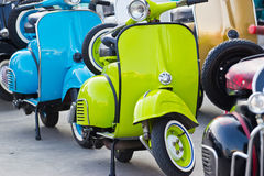 Modern classic scooter Royalty Free Stock Photo
