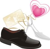 Modern classic shoes for wedding Stock Photography