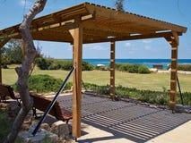 Modern classical beach pergola gazebo pavilion Stock Images