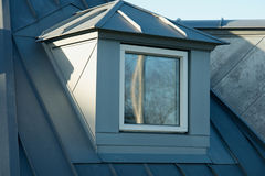 Modern classical vertical roof window Stock Image
