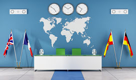 Modern classroom of a language school Royalty Free Stock Photos