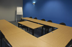Modern classroom or meeting room. Empty modern classroom or meeting room with flip boards Royalty Free Stock Images