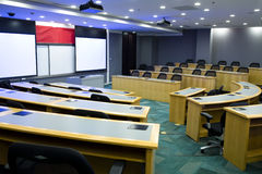Modern classroom with projector Stock Photo