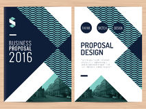 Modern clean business proposal, annual report, brochure, flyer, leaflet, corporate presentation design template. Modern clean business proposal, annual report Stock Image