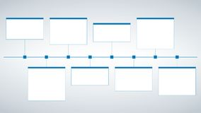 Modern clean business style timeline template. Vector. can be used for workflow layout, diagram, number step up options, web desig. Modern clean business style Stock Image