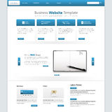 Modern Clean Business Website Template. Vector Eps 10 Royalty Free Stock Photo