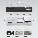 Modern Clean Business Website Template. Vector Eps 10 Royalty Free Stock Photos