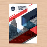 Modern clean cover for business proposal, annual report, brochure, flyer, leaflet, corporate presentation, book cover. Stock Photos