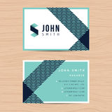Modern and clean design business card template in abstract background. Printing design template. Royalty Free Stock Photo
