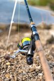 Modern clean fishing rod outdoors Stock Photo