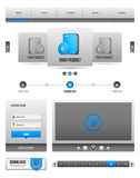 Modern Clean Website Design Elements Grey Blue Gray 2 Stock Photos