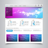 Modern Clean Website Template Royalty Free Stock Images