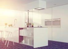Modern clean white kitchen interior Stock Image