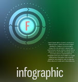 Modern, clear template cirlce shape. Can be used for infographic Stock Photography