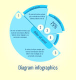 Modern, clear template round shape. Can be used for infographics Stock Photography