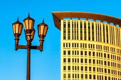 Modern Cleveland kontrast som är gammal och Royaltyfri Fotografi