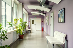 A modern clinic interior. Moscow - July 25, 2017: A modern clinic interior Royalty Free Stock Photo