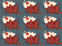 Modern clip art abstract background. With swirls and  colored  circles for wallpaper, web design,paper,surface textures, fabric textile Royalty Free Stock Photos