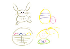 Modern clip-art set: Easter Stock Photography