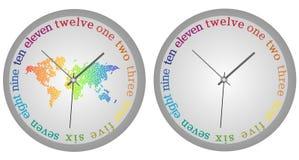 Modern clock Stock Image