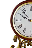 Modern clock face. Modern clock face with roman numerals and half view Stock Image