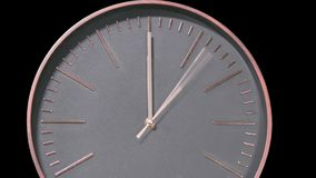 Modern Clock Face Fast Time Lapse stock video