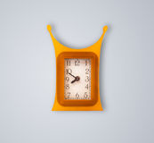 Modern clock with hours and minutes Royalty Free Stock Photo