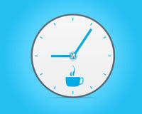 Modern clock illustrated coffee break Stock Photo