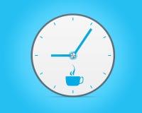 Modern clock illustrated coffee break Stock Photo