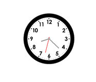 Modern clock isolated Royalty Free Stock Photos