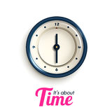 Modern clock Isolated on white background vector illustration Royalty Free Stock Photo