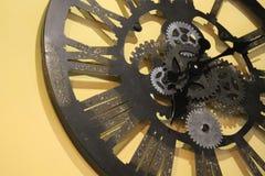 Modern clock metallic. Details gear Stock Photos