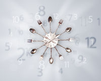Modern clock with numbers comming out Royalty Free Stock Photography