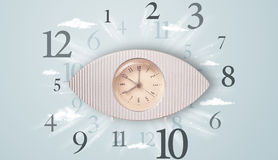 Modern clock with numbers on the side Royalty Free Stock Image
