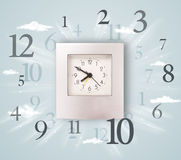 Modern clock with numbers on the side Stock Photos