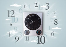 Modern clock with numbers on the side Stock Photography