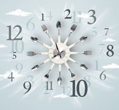 Modern clock with numbers on the side Royalty Free Stock Photos