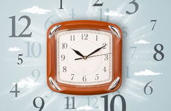 Modern clock with numbers on the side Royalty Free Stock Photo