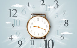 Modern clock with numbers on the side Royalty Free Stock Photography