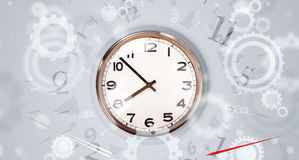 Modern clock with parts comming out Stock Image