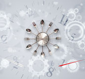 Modern clock with parts comming out Royalty Free Stock Photo