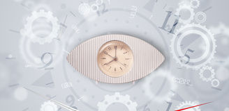 Modern clock with parts comming out Royalty Free Stock Images