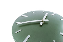 Modern clock Time is 14.53 a.m. Fragment. Modern clock isolated over white. Time is 14.53 a.m. Fragment Royalty Free Stock Photography