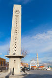Modern clock tower and Fatih Camii, Izmir, Turkey Royalty Free Stock Image
