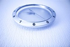 Modern clock on wall Stock Photos